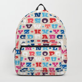 Typography Alphabet from A to Z Backpack