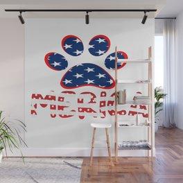 AMERICAN DOG PAW PRINT Wall Mural