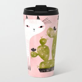 CAT & CACTUS Metal Travel Mug