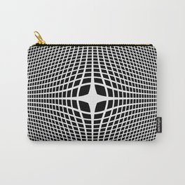 White On Black Convex Carry-All Pouch