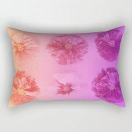 Purple Gradient Flower Grid Rectangular Pillow