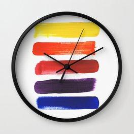 Happy Color Stripes Wall Clock