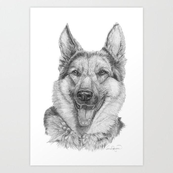 German shephard Art Print