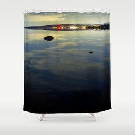 Glass lake Shower Curtain
