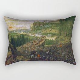 """Pieter Bruegel (also Brueghel or Breughel) the Elder """"The Suicide of Saul"""" Rectangular Pillow"""
