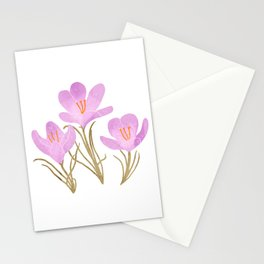 crocus Stationery Cards