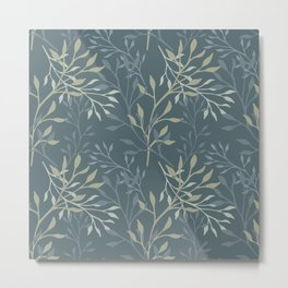 Beautiful delicate seamless floral pattern. Metal Print