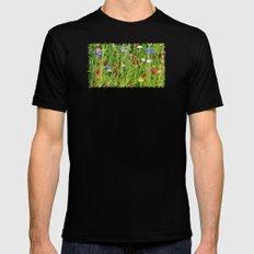 Colourful Garden - JUSTART © Mens Fitted Tee Black MEDIUM