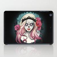 dia de los muertos iPad Cases featuring ¡Dia de los Muertos! by Tati Ferrigno
