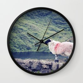 Living on the Edge Wall Clock
