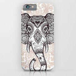 Elephant on Mandala iPhone Case