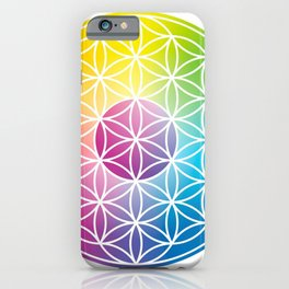 Flower of Life, Sacred Circle Geometry iPhone Case