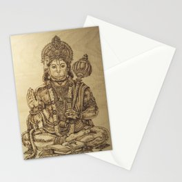 The Mighty Monkey God Hanuman Stationery Cards
