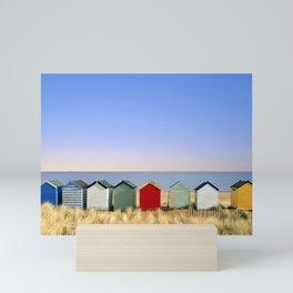 Beach Huts at Southwold (Suffolk/Great Britain) Mini Art Print
