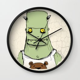 Monster & Teddy Wall Clock