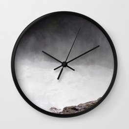 Mist Rising From the Rapids, Churning Water, Fast Moving River Wall Clock