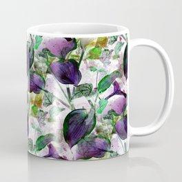 Hosta and English Ivy - Seamless - Vintage Colors Coffee Mug