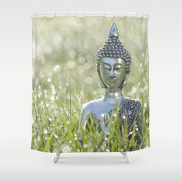 Buddha in the sea of ​​a thousand lights Shower Curtain