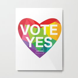 Australia Vote Yes Metal Print