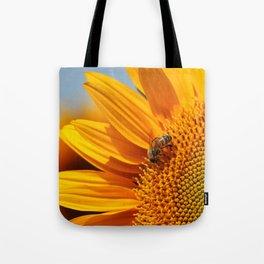 Sunflower & Bee Tote Bag