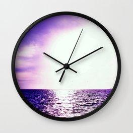 Purple Escape Wall Clock