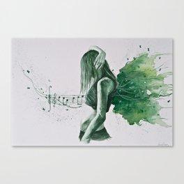 The inspiring music Canvas Print