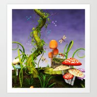 fairytale Art Prints featuring fairytale by Ancello