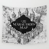ravenclaw Wall Tapestries featuring Marauders Map by bimorecreative