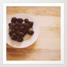 Summer Blackberries Art Print