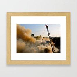 Fire in Frederick Framed Art Print
