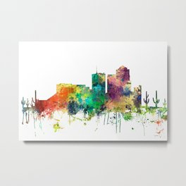 Tucson, Arizona Skyline SP Metal Print