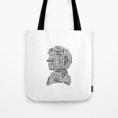 Sherlock BBC Benedict Cumberbatch Typography Silhouette Tote Bag