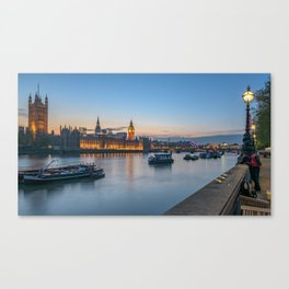 Westminster after sunset Canvas Print