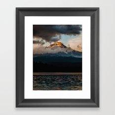 Mt. Hood at Sunset Framed Art Print