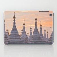 buddhism iPad Cases featuring Sandamani Pagoda, Mandalay, Myanmar by Maria Heyens