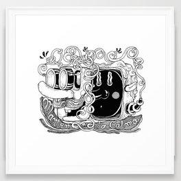 Mantén la calma Framed Art Print