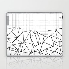 Abstract Outline Grid Black on White Laptop & iPad Skin