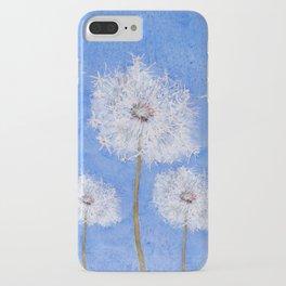 flying dandelion watercolor painting iPhone Case