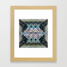 Abstract Multi-Colored Fractal (Night) Framed Art Print