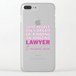 LAWYER'S MOM Clear iPhone Case