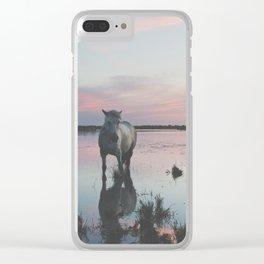 Camargue Horses IV Clear iPhone Case