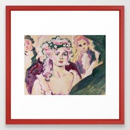 Marie at the Ball Framed Art Print
