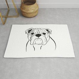 English Bulldog (Black and White) Rug