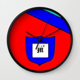 A Family Crest with a Capital Letter M, Mu Wall Clock
