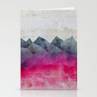 concrete Stationery Cards featuring Pink Concrete by cafelab