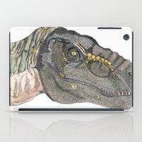 t rex iPad Cases featuring T-Rex by Raffles Bizarre