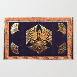 Japanese Swan Traditional Motif Rug