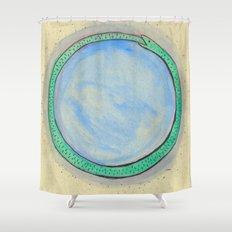 Ourobouros and Blue Orb Shower Curtain