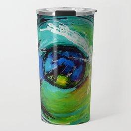 L'œil sur le futur, acrylique / Eye on the futur, Acrylic artwork Travel Mug