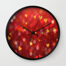 Valentine's Day Heart Wall Clock
